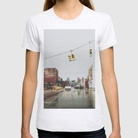 Gratiot Ave - Detroit, MI Womens Fitted Tee Ash Grey SMALL