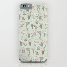 Children Playing-on Mint iPhone 6 Slim Case