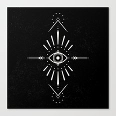 Evil Eye Monochrome Canvas Print