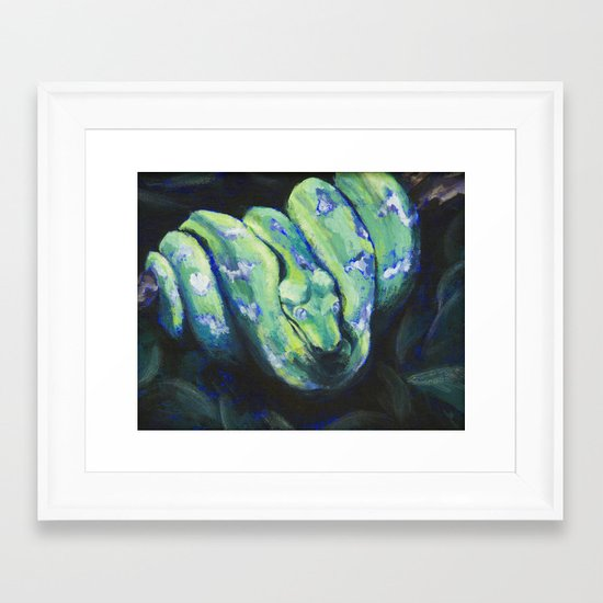 Emerald Tree Boa Framed Art Print