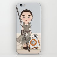 Kokeshis Rey and cute droid iPhone & iPod Skin