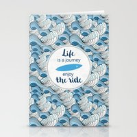Life is a journey - surf waves Stationery Cards