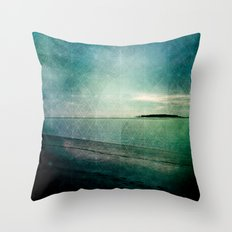 Lingering By the Sea 2 Throw Pillow