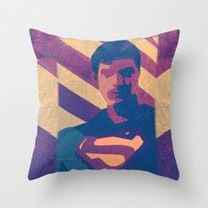 Retro Superman Throw Pillow