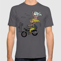 On the freedom experienced by Desert Bike Harpies.   Mens Fitted Tee Asphalt SMALL