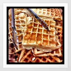 Waffles. Art Print