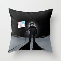 Lunar Walk Throw Pillow