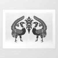 Peacock Symbolism Art Print