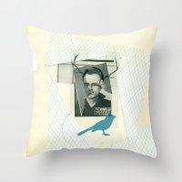 bluebird of... Throw Pillow