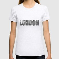 LONDON  Womens Fitted Tee Ash Grey SMALL