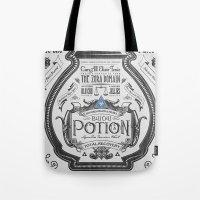 Legend of Zelda Blue Chu Potion Advertisement Tote Bag