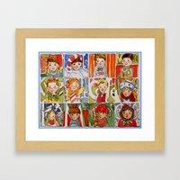 The Twelve Kids Of Chris… Framed Art Print