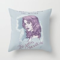 The Wolves Run With Me. Throw Pillow