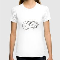 Moom And Snuh Womens Fitted Tee White SMALL