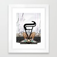 Show up late / leave early syndrome Framed Art Print