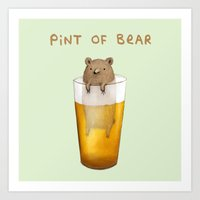 Pint of Bear Art Print