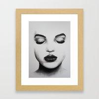 Shut It Out Framed Art Print