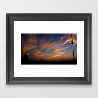 Purple-golden Sunset  Framed Art Print