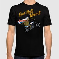 Evel Boll Weevil Mens Fitted Tee Black SMALL