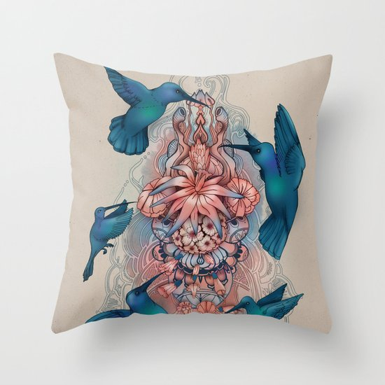 kolibri Throw Pillow