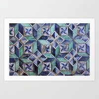 Tiling with pattern 3 Art Print