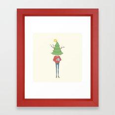 xmas tree Framed Art Print