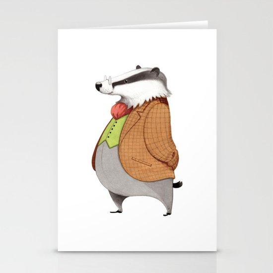 Mr. Badger Stationery Card