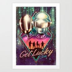 Get Lucky - Daft Punk Art Print