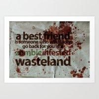 Zombie Infested Wastelan… Art Print