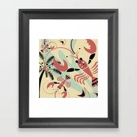 Lobster Rhumba Framed Art Print