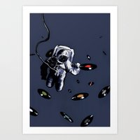 Interstellar Record Hunt Art Print