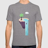 Floating Island Mens Fitted Tee Tri-Grey SMALL