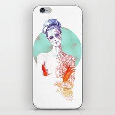 Printed Lady iPhone & iPod Skin