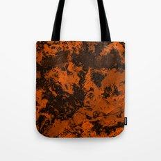 Galaxy in Orange Tote Bag