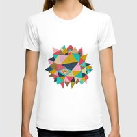 Geometric Womens Fitted Tee White SMALL