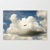 Airplane/Fly/Clouds/Sky Canvas Print
