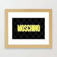 MOSCHINO Quilted Bag Framed Art Print