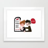 Will you be my Valentine?  Framed Art Print