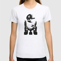 The Dark Side Womens Fitted Tee Ash Grey SMALL