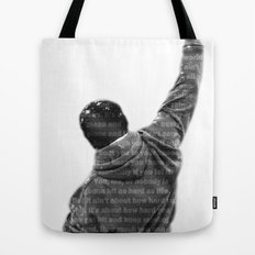 How Hard You Get Hit - Rocky Balboa Tote Bag