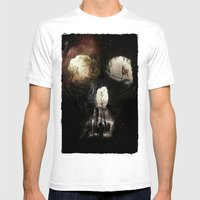 Cave Skull Mens Fitted Tee White SMALL
