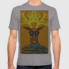 Oh Deer Mens Fitted Tee Athletic Grey SMALL