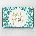 Treat Yo Self – Gold & Turquoise iPad Case