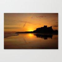 Bamburgh Castle Sunrise Canvas Print