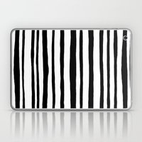 Into the Woods Stripes black Laptop & iPad Skin