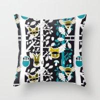 Animals Play Hide&seek I… Throw Pillow