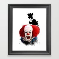 Pennywise The Clown: Mon… Framed Art Print