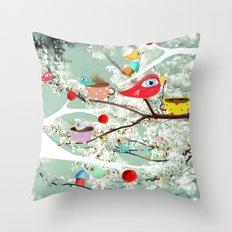 Vintage Whimsical Christmas Throw Pillow