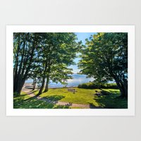 Summertime Park Art Print