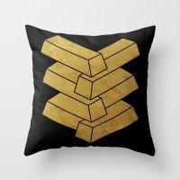 Illusory (Black) Throw Pillow